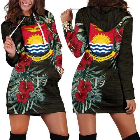 Image of Kiribati Hibiscus Hoodie Dress A7