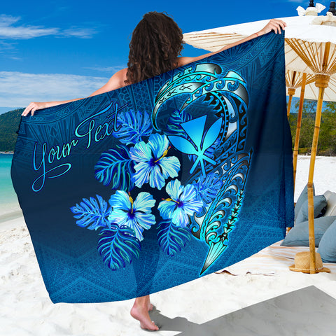 Polynesian Hawaii Custom Personalised Sarong - King Kamehameha Koa Spear