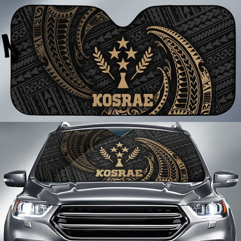 Polynesian Kosrae Sun Shades - Gold Tribal Wave