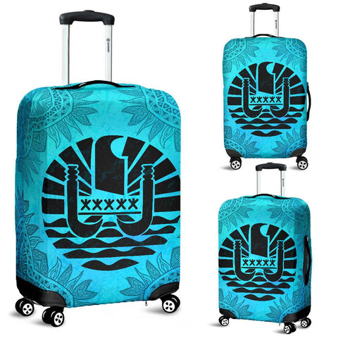 Tahiti Turquoise Luggage Covers | Special Custom Design