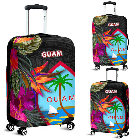 Guam Luggage Covers - Hibiscus Polynesian Pattern