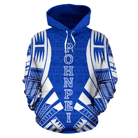 Pohnpei All Over Hoodie - Blue Tattoo Style - BN01