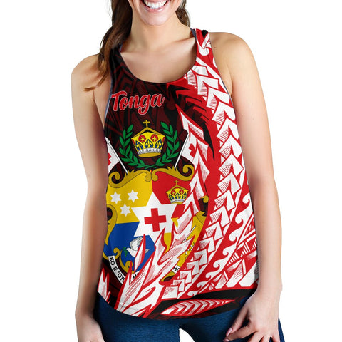 Image of Tonga Women's Racerback Tank - Wings Style