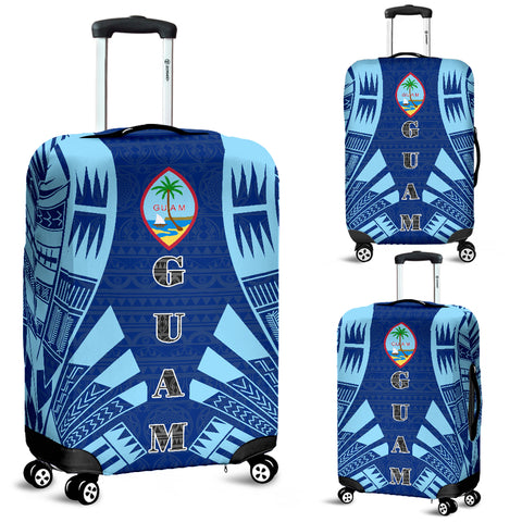 Guam Luggage Cover - Polynesian Tattoo Flag - BN09