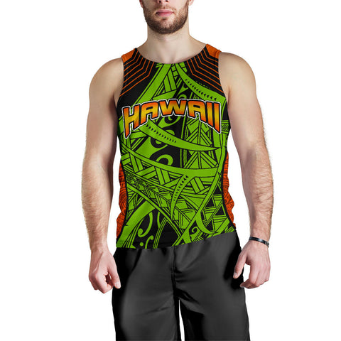 Polynesian Hawaii Men's Tank Top - Tribal Wave - BN12