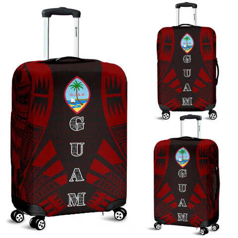 Guam Luggage Cover - Polynesian Tattoo Red - BN09