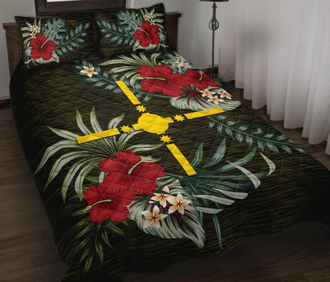 Image of Rotuma Polynesia Polynesian Quilt Bed Set - Special Hibiscus