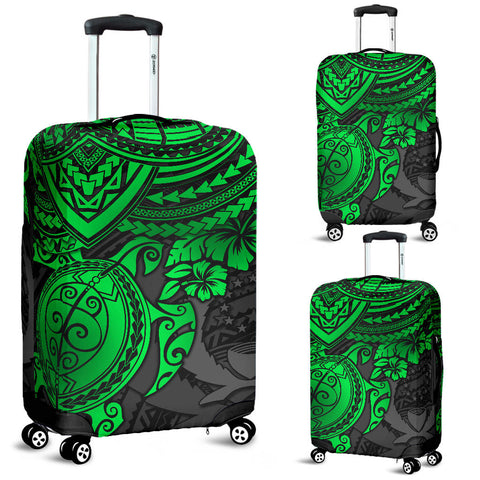 Image of Pohnpei Polynesian Luggage Covers - Polynesian Green Turtle