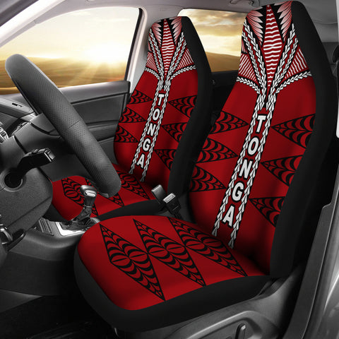 Image of Polynesian Tonga Car Seat Covers - Tongan Ngatu Pattern