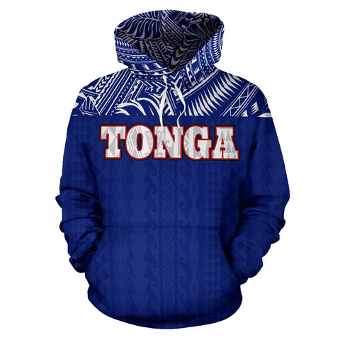 Tonga All Over Hoodie - Polynesian Blue Version Front