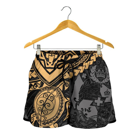 Tonga Polynesian Shorts (Men)- Golden Turtle