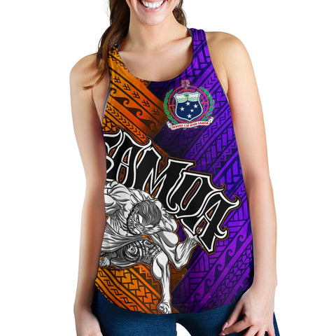 Samoa Women's Racerback Tank - Warrior Style Polynesian Patterns