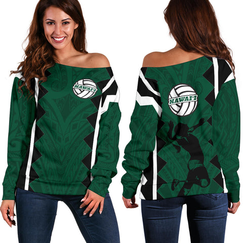 Hawaii Volleyball Women's Off Shoulder Sweater