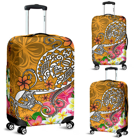 Polynesian Luggage Covers - Turtle Plumeria Gold Color - BN18