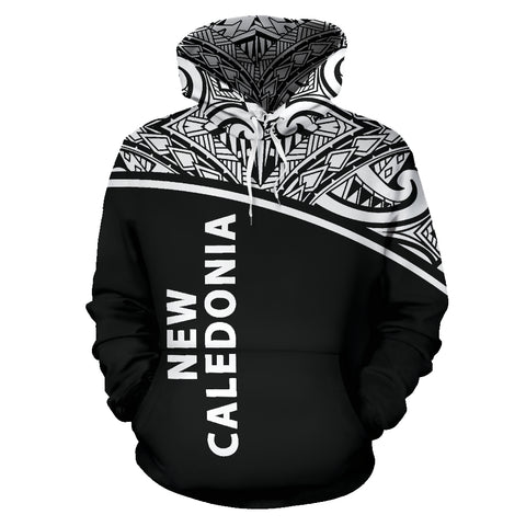 New Caledonia Polynesian All Over Hoodie - Curve Black Style - BN12