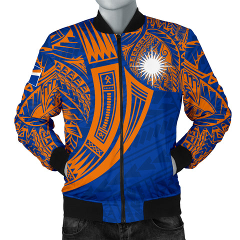 Marshall Islands Polynesian Men's Bomber Jacket - Tribal Tattoo
