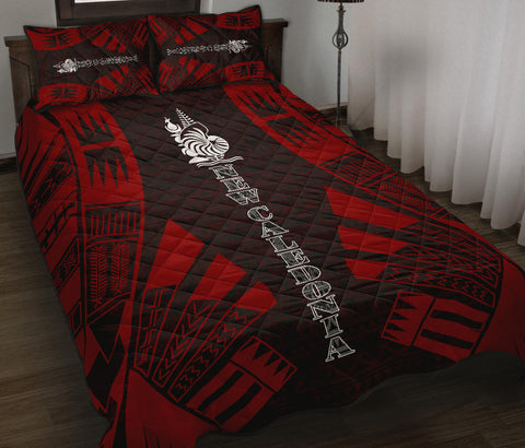 New Caledonia Polynesian Quilt Bed Set - Red Tattoo Style - BN0112