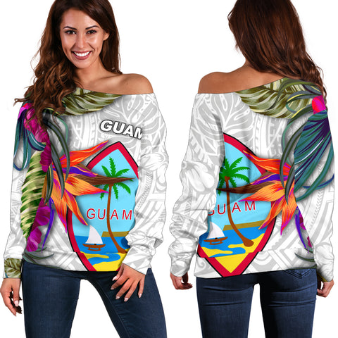 Guam Women's Off Shoulder Sweater