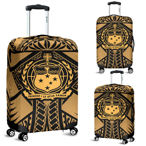 Samoa Polynesian Luggage Covers - Samoa Gold Seal with Polynesian Tattoo - BN18