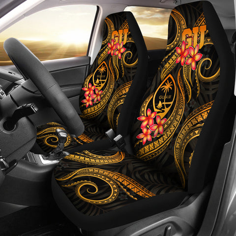 Image of Guam Polynesian Car Seat Covers - Gold Plumeria