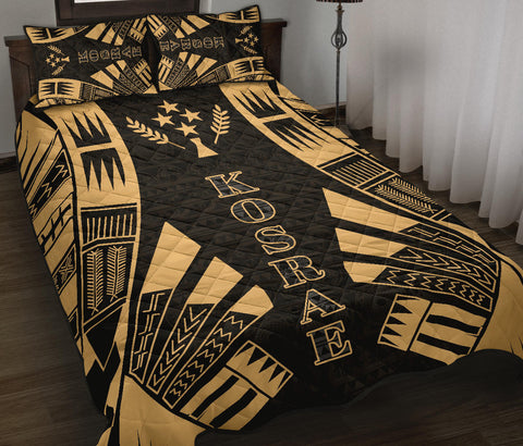 Kosrae Quilt Bed Set - Yellow Tattoo Style - BN0112
