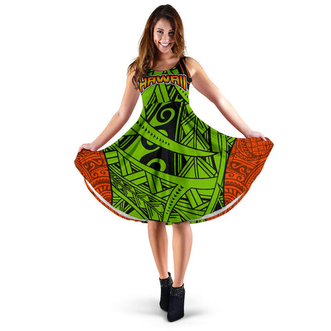 Polynesian Hawaii Women's Dress - Tribal Wave