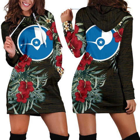 Yap Hibiscus Hoodie Dress A7