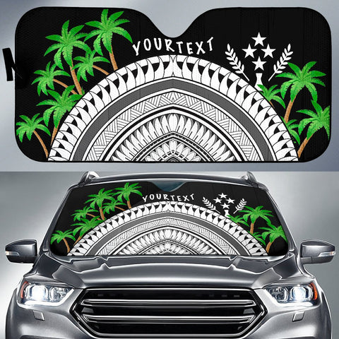 Kosrae Custom Personalised Auto Sun Shades - Ginger Lei Pattern - BN20