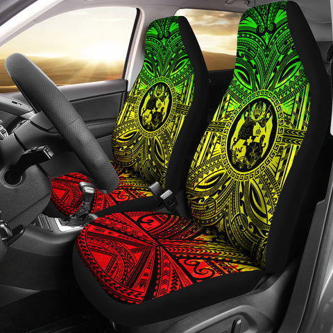 Tonga Car Seat Cover - Tonga Coat Of Arms Polynesian Reggae Style