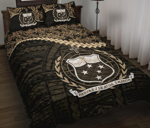 Image of Samoa Polynesian Quilt Bed Set Golden Coconut A02