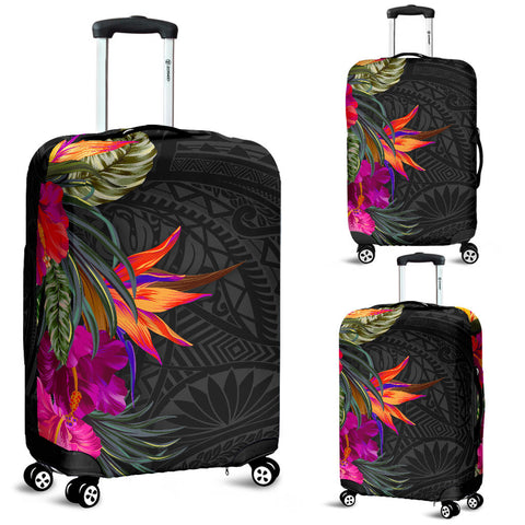Image of Polynesian Luggage Covers - Hibiscus Pattern