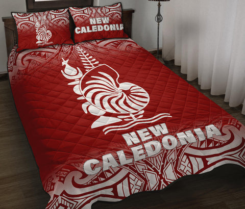New Caledonia Polynesian Quilt Bed Set - Red Fog Style - BN12