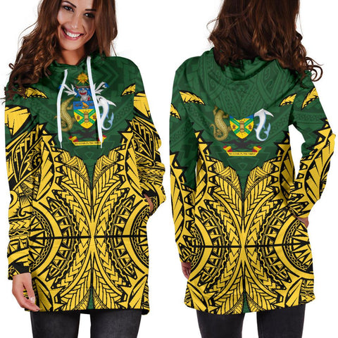 Solomon Islands Premium Hoodie Dress A7