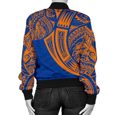 Marshall Islands Polynesian Women's Bomber Jacket - Tribal Tattoo - BN12