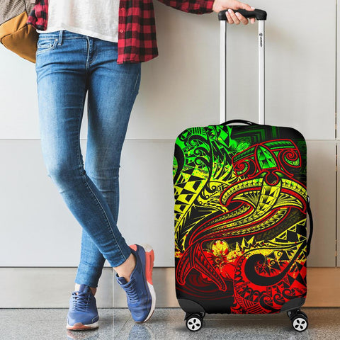Polynesian Luggage Covers - Reggae Shark Polynesian Tattoo