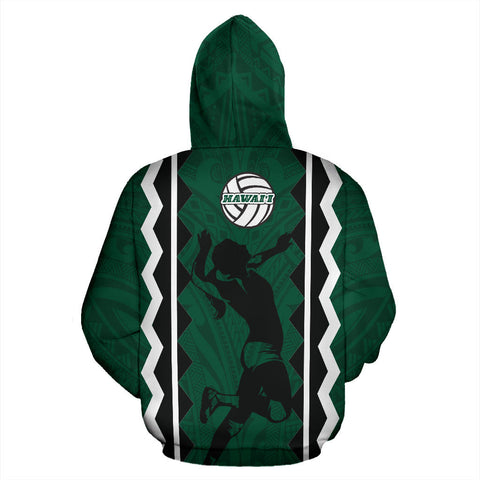 Hawaii Volleyball All Over Hoodie - BN12