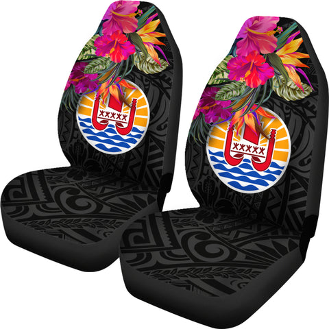 Image of Tahiti Car Seat Covers - Polynesian Hibiscus Pattern - BN39