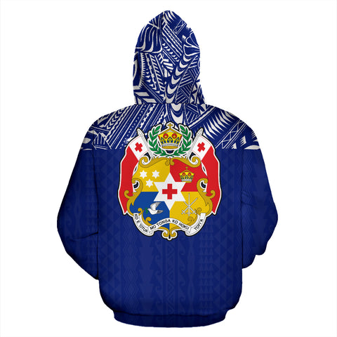 Tonga All Over Hoodie - Polynesian Blue Version Back