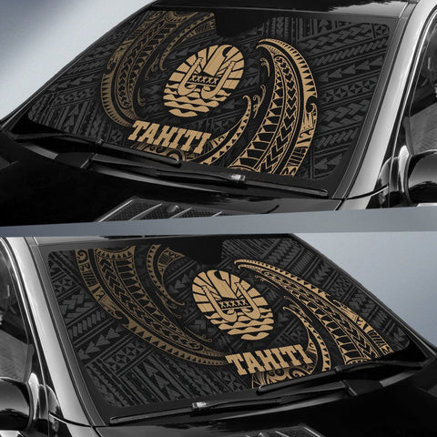 Tahiti Polynesian Sun Shades - Gold Tribal Wave - BN12