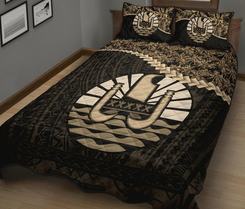 Tahiti Polynesian Quilt Bed Set Golden Coconut A02
