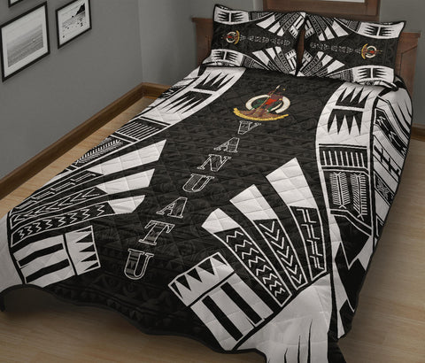Vanuatu Quilt Bed Set - Black Tattoo Style - BN0112