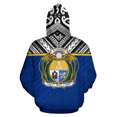 Nauru All Over Hoodie - Polynesian Hoodie Style Back