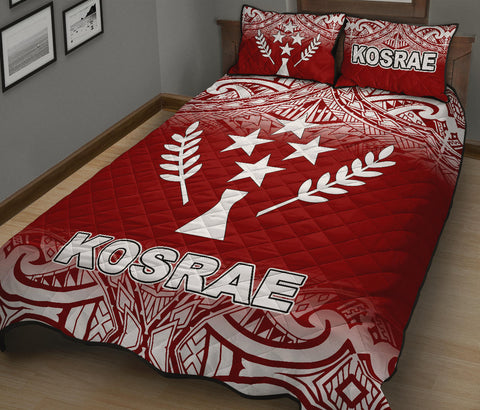 Kosrae Quilt Bed Set - Red Fog Style - BN12