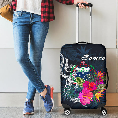 Image of Samoa Polynesian Luggage Covers - Tropical Flowers - BN12
