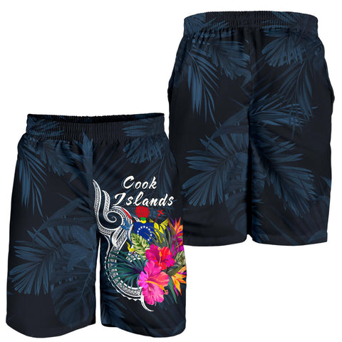 Image of Cook Islands Polynesian Men's Shorts - Tropical Flower - BN12
