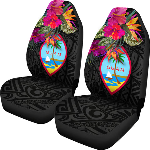 Guam Car Seat Covers - Hibiscus Polynesian Pattern - BN39