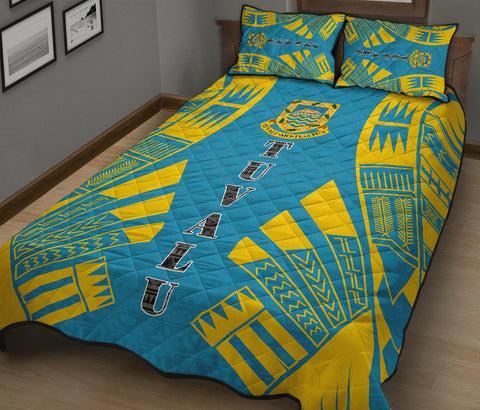Tuvalu Quilt Bed Set - Blue Tattoo Style - BN0112
