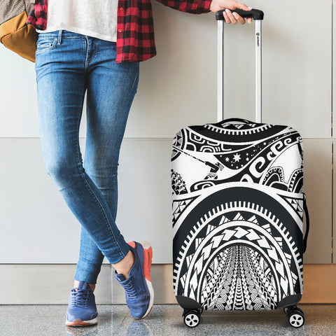 Polynesian Luggage Covers - Maui Tattoo (White) - BN17