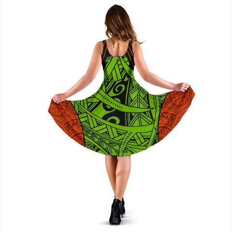 Polynesian Hawaii Women's Dress - Tribal Wave - BN12
