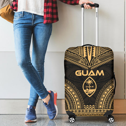 Guam Polynesian Chief Luggage Cover - Gold Version